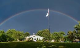 Chapel rainbow
